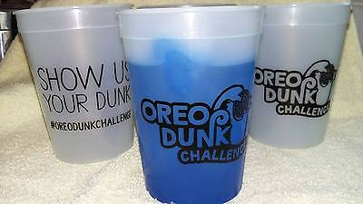 Color Changing Oreo Dunk Challenge Plastic Cups. Show Us Your Dunk. Lots of 5-25