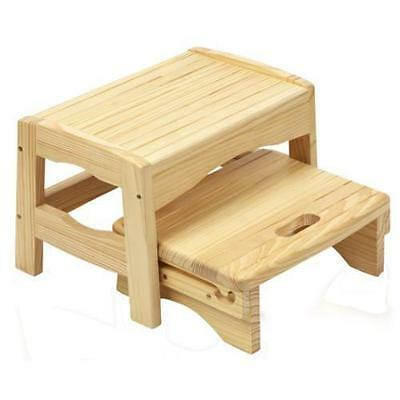 Safety 1st Wooden Step Stool Bathroom Aid Toilet Training for Child