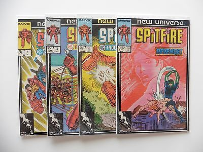 Spitfire And The Troubleshooters Issues 1, 3, 4, 8 Marvel Comics