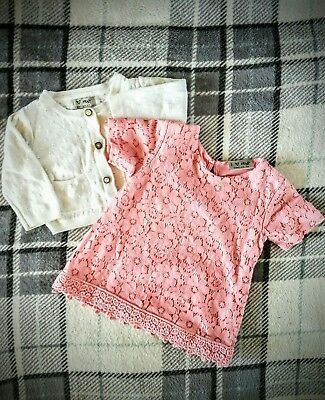 Baby Girl Next Lace Dress And Cardigan 3-6