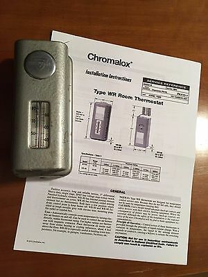 Vintage E. L. Weigand Co. Chromalox WR80 Thermostat with instructions