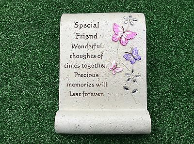 Special Friend Butterfly Grave Memorial Ornament, Graveside Cemetery Plaque