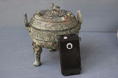 CHINESE ANCIENT ARCHAIC BRONZE HU/with inscriptions