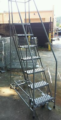 Warehouse rolling safety ladder. FREE delivery within 50 miles..