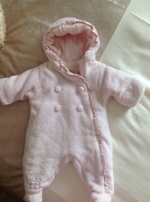 baby girls EMILE ET ROSE pink SNOWSUIT age up to 1month