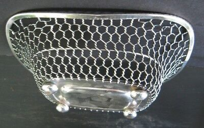 2 Fine Antique Silver Georgian Footed Wire Iii Footed Wire Sweetmeat Baskets