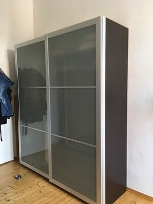 schiebet ren glas alu f r ikea pax kleiderschrank eur 56 00 picclick de. Black Bedroom Furniture Sets. Home Design Ideas