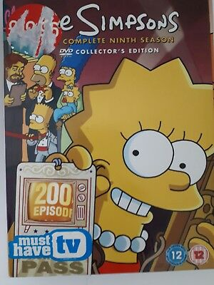 The Simpsons complete ninth season dvd collectors edition