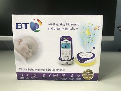 BT 350 Digital Baby Monitor Lightshow HD Sound Temperature Check