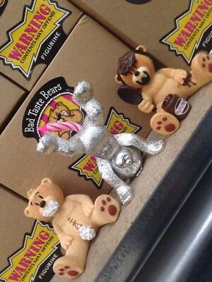 3 x Bad Taste Bears Collection Set Rude Funny Xmas Gift Phil Wicksy Kirk BOXED