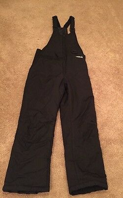 Youth Girls Boys Snow Suit Bibs Ski Gear Black pants Size Youth Small