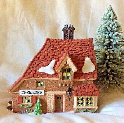 """Dept. 56 Dickens Village """"the Chop Shop"""" #58331. Excellent. Free Shipping."""