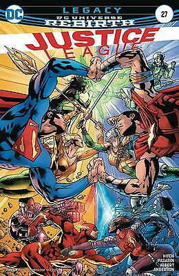 Justice League Vol 3 #27 Cover A Regular Bryan Hitch Cover (DC -2017)