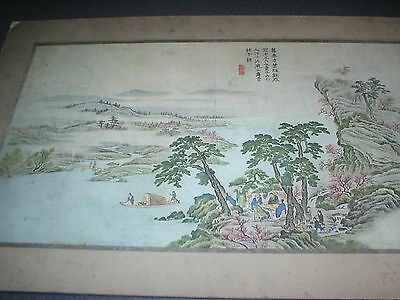 Vintage / Antique Japanese Print, on board and mounted