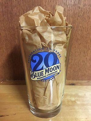 *NEW* Blue Moon Beer Glass - Limited Edition - 20th Anniversary