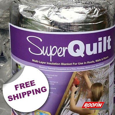 NEW YBS SuperQuilt 19 Layered Multi Foil Insulation 10m x 1.5m. FREE UK Shipping