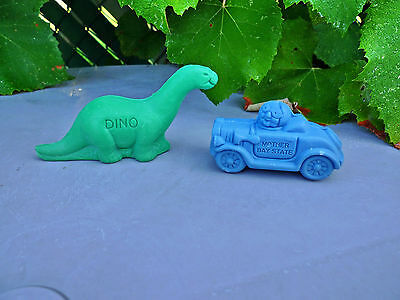 Lot 2 Vintage 1960's Sinclair Oil Gas Soap Gift Premium Dino Mother Bay State