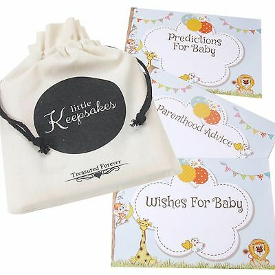 Baby Shower Prediction Cards Wishes Parent Advice Safari Keepsake 10 Guests