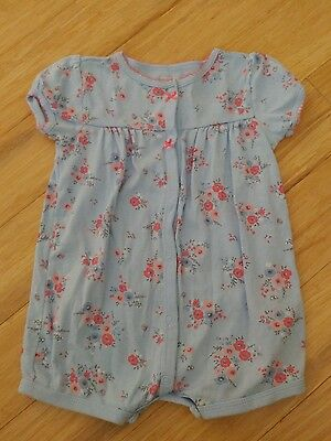 Carters Baby Girls Floral One Piece Romper Size 18 months