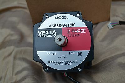 "Oriental Motor VEXTA A5838-9412K 2-PHASE 1.8""/STEP STEPPING MOTOR - New"