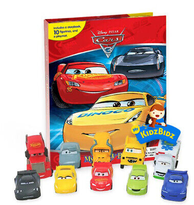 Disney's Cars 3 My Busy Book & Map & 12 Figures Lightning McQueen Jackson Storm