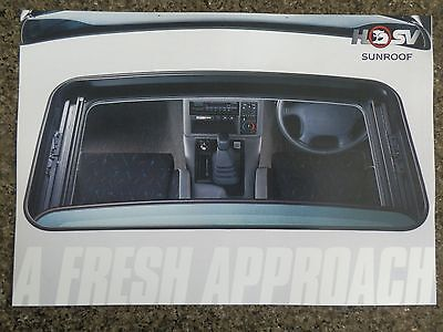 Hsv Holden  Sunroof  Brochure  100% Guarantee