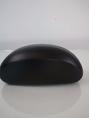 Hard Sunglass Eyeglass Case Clamshell Microfiber with FREE Cleaning Cloth black
