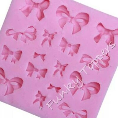 Multi Bow Gift Ribbon Silicone Mould Fondant Sugar-craft Icing Chocolate Present