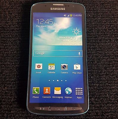ATT Samsung Galaxy S4 Active Dive Blue Demo used Display Smart Phone