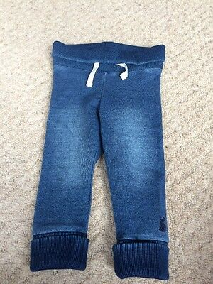 Baby Boys Joules Hugo Jersey Denim Trousers, 3-6 months. BNWOT.