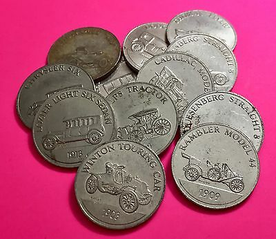 (#96)  Lot of 21 coins from:  Shell Oil President Coins & Sunoco Antique Cars
