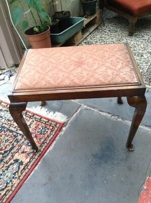 vintage old wooden tall stool upcycle project? Piano?