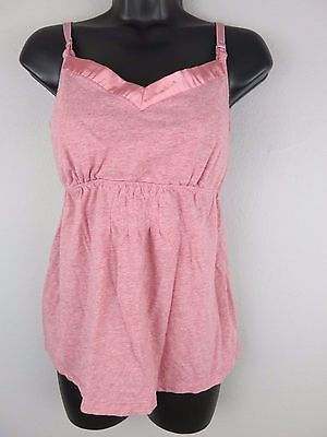 MOTHERHOOD MATERNITY Pink Nursing Pajama Tank SMALL R47