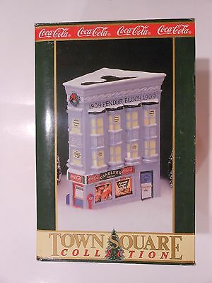 Coca Cola Town Corner House Candler's Drugs Store with Santa in Window NEW 1992