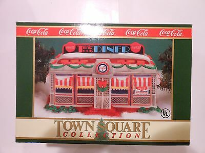 Coca Cola Christmas Town Square Collection Tick Tock Diner Building 1992 NEW