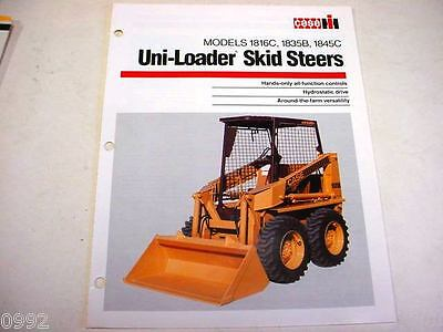 Case IH  1816C, 1835B, 1845C Uni-Loader Skid Steer Brochure
