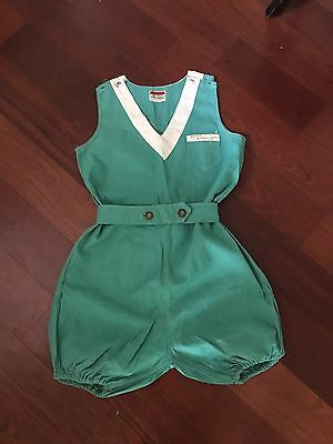 Vintage 1920s Sally Togs Green Lonsdale Romper Shorts Swimsuit?  Women's 4-6