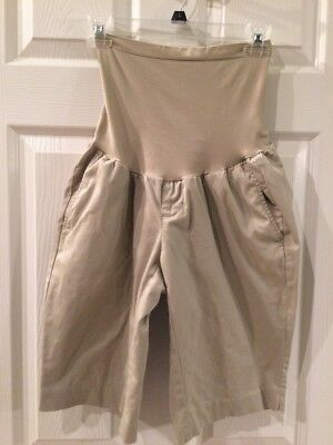 Cute Pair Of Oh Baby Maternity Shorts Size M Tan