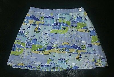 Rare! EUC!!! Cute Toddler Girl Gymboree Vacation Time Reversible Skirt. Size: 3T