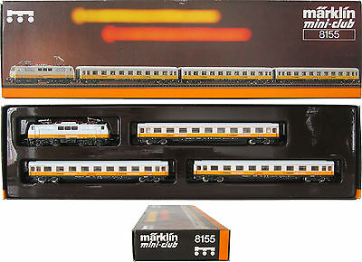 Märklin Z 8155 Train Set LUFTHANSA ELECTRIC LOCOMOTIVE + Passenger Wagon