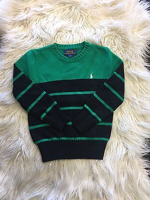 Clearance Sale! New Green Boy Ralph Lauren Cotton Stripes Jumper Size 4 and 6
