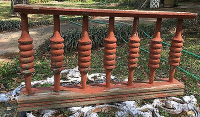 ANTIQUE RAILING  w 7 BALUSTERS 1800s ARCHITECTURAL SALVAGE VICTORIAN 26""