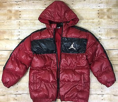 MICHAEL AIR JORDAN JACKET YOUTH XL RED BLACK Puffer Puffy Snow Ski Winter Boys