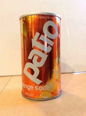 Vintage 1976 Patio Orange Soda Straight Steel Pull Tab soda can
