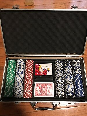 Poker Chip Set Complete With Aluminum Case