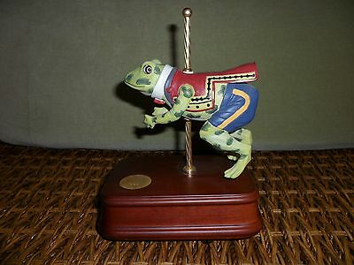 Frog Toad Carousel San Francisco Music Box Beauty & Beast Theme Numbered 0528