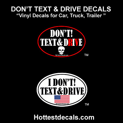 """/""""DON/'T DRIVE INTEXTICATED/"""" window decal BUMPER STICKER text hang up phone and"""