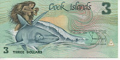 COOK ISLANDS - $3 Note Uncirculated