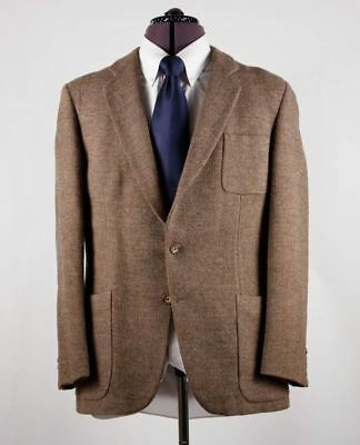 CALVIN KLEIN Brown Woven Tweed Made In France Patch Pockets Jacket Blazer 38R
