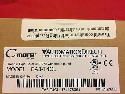 Ea3-T4Cl C-More Ea3 Series Touch Screen Hmi (Nib) With Cable